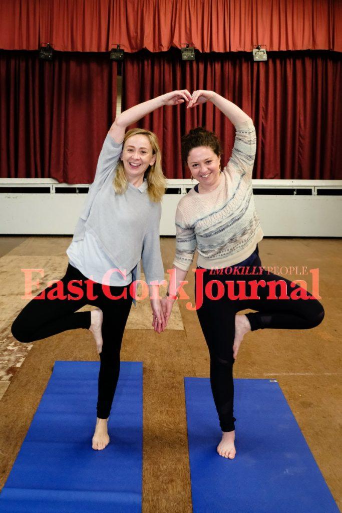 Rose Leahy (organiser) and Kathryn Sheehan (yoga teacher)